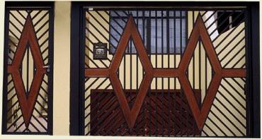 Modelos de Portões de Ferro com Madeira
